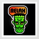 Frankie Says Relax Art Print