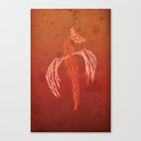 Dragon in red Canvas Print