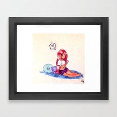 Texting Framed Art Print