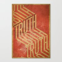 Finding Truth Canvas Print