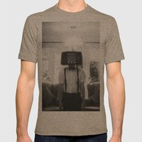 Ol' Radio Daze Mens Fitted Tee Tri-Coffee SMALL