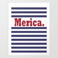 Merica Art Print