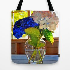 Light and flowers Tote Bag