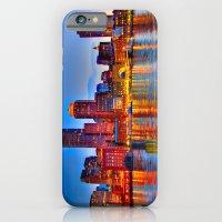 iPhone & iPod Case featuring Boston Harbor by LudaNayvelt