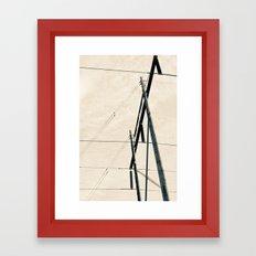 Transmit Framed Art Print