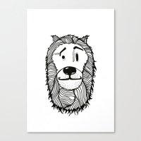 Lion Sketch Canvas Print