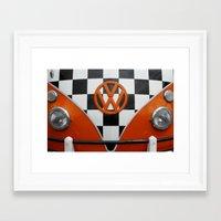 VW Checkers Framed Art Print
