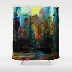A moment in your city Shower Curtain