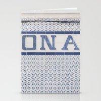 TILES OF LISBON Stationery Cards