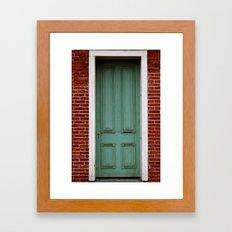Green door Framed Art Print