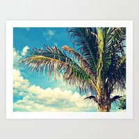 Breezy Beach Palm Art Print