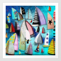 New York Yacht Club Rega… Art Print
