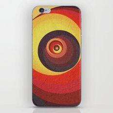 Flame Meditation on a Yellow Wall iPhone & iPod Skin