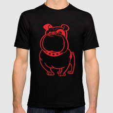 Bulldog SMALL Black Mens Fitted Tee