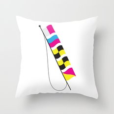 Nautical CMYK Flags - Hell0 Throw Pillow