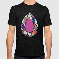 Facets Mens Fitted Tee Tri-Black SMALL