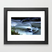 River runs wild Framed Art Print