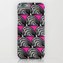 BW & Pink Abstract Pattern iPhone & iPod Case