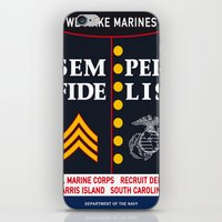 US Marine Corps, USA. iPhone & iPod Skin