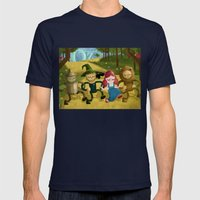 Wizard of Oz fan art Mens Fitted Tee Navy SMALL