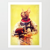 Art Print featuring Captain Cat by Rubbishmonkey
