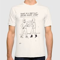 Bread-Knife-Fight Mens Fitted Tee Natural SMALL