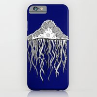 iPhone & iPod Case featuring Blue Jellyfish by lush tart