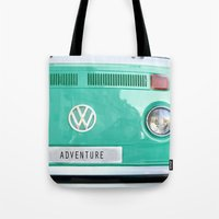 Adventure wolkswagen. Summer dreams. Green Tote Bag