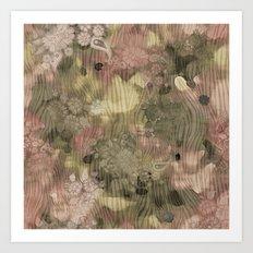 Floral Camo Art Print