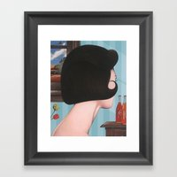 Girl With Hairdo Framed Art Print