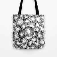 White Pinwheels Tote Bag