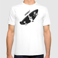 CRAAACK! Mens Fitted Tee White SMALL