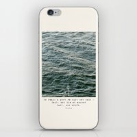 Set Sail (Franklin Delano Roosevelt Quote) iPhone & iPod Skin