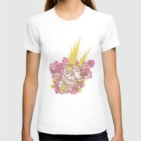Robot Womens Fitted Tee White SMALL