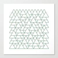 #264 Mountain Range – … Canvas Print