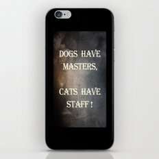 Dogs v Cats iPhone & iPod Skin