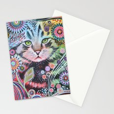 Abstract Cat Art - Penny Stationery Cards