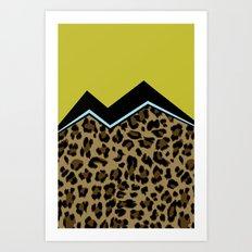 Sassy Babe - Chartreuse Art Print