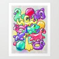 Inflatable Playground Art Print