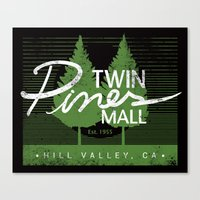 Twin Pines Mall Canvas Print