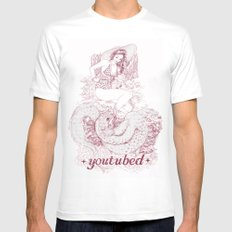 youtubed SMALL White Mens Fitted Tee
