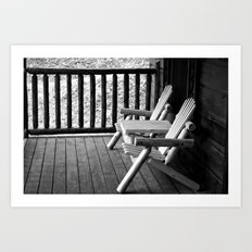 Take Off Your Shoes and Rest a Spell Art Print