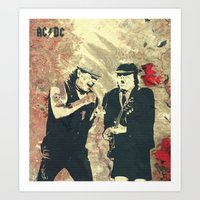 AC/DC Art Print