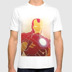 Iron Man Armor SMALL Mens Fitted Tee White