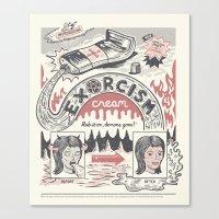 Exorcism Cream Canvas Print