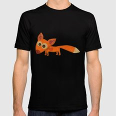 Cute Fox Mens Fitted Tee Black SMALL