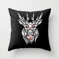 Mother nature deer Throw Pillow
