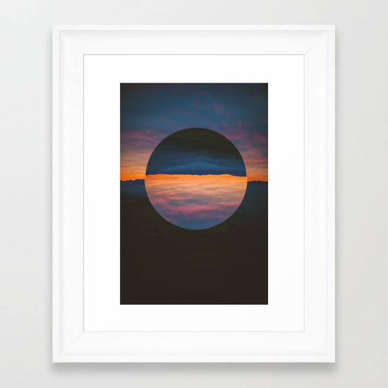 Black Sun Framed Art Print