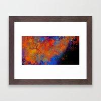 Blue Invasion  Framed Art Print