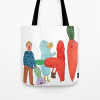 Friends and the garden. Tote Bag